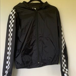 reflex black windbreaker